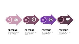 深紫色系商务PPT图表-2