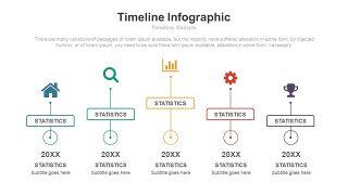彩色总分关系时间轴PPT图表-17