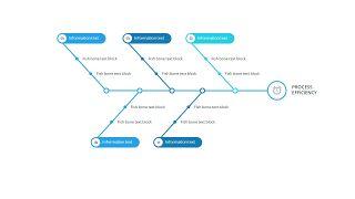 蓝色鱼骨图PPT图表-7