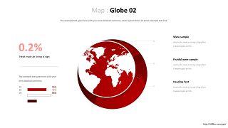 世界地图PPT图表-13