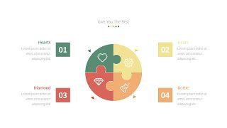 经典彩色饼状图PPT图表-16