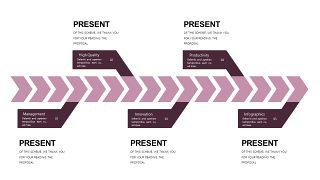 深紫色系商务PPT图表-20