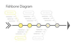 黄灰色鱼骨流程图PPT图表-3