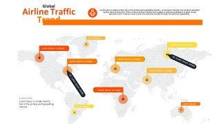 橙色总分关系PPT图表-29