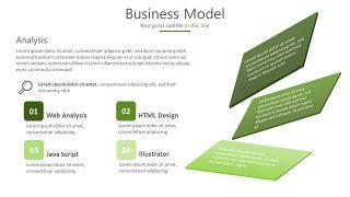 绿色三项关系PPT图表-14