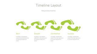 绿色并列关系PPT图表-7