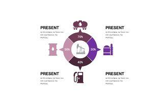 深紫色系商务PPT图表-10