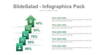 绿色百分比信息PPT图表-5