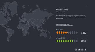 商务数据分析PPT图表之地图-4