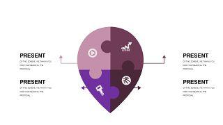 深紫色系商务PPT图表-5