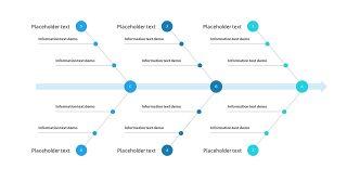 蓝色鱼骨图PPT图表-16