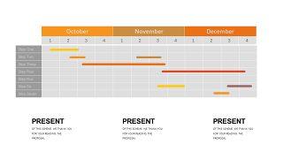 橙色系并列关系PPT图表-29
