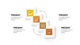 橙色系并列关系PPT图表-13