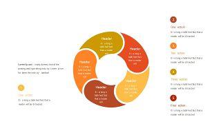 红橙色箭头雷达图PPT图表-25