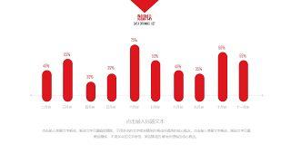 大气红色商务PPT图表-18