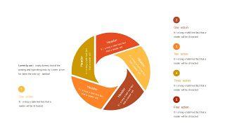 红橙色箭头雷达图PPT图表-29
