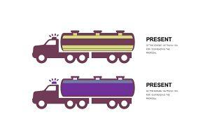 深紫色系商务PPT图表-29