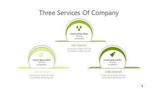 绿色三项关系PPT图表-5