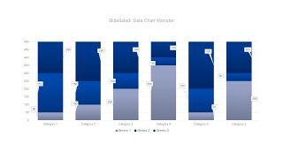 蓝色数据可视化PPT图表-31