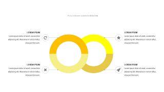 黄色关联关系PPT图表-21