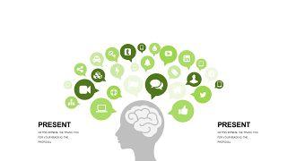 小清新绿色商务PPT图表-12