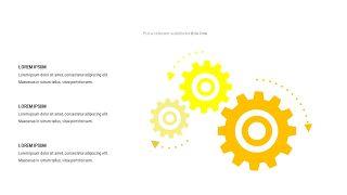 黄色关联关系PPT图表-4