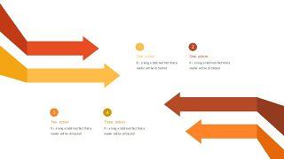 红橙色箭头雷达图PPT图表-16