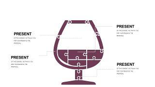 深紫色系商务PPT图表-19
