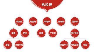 深红组织结构PPT图表-31