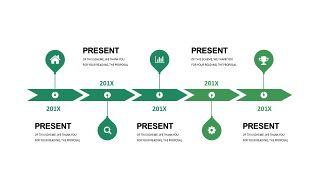 清新绿色数据关系PPT图表-29