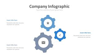 蓝色齿轮商务图表-2