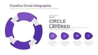淡紫色循环关系PPT图表-13