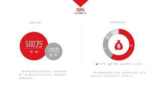 大气红色商务PPT图表-2