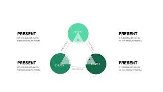 清新绿色数据关系PPT图表-2
