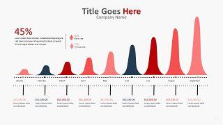 红色柱状图PPT图表-17