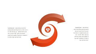 红橙色箭头雷达图PPT图表-10