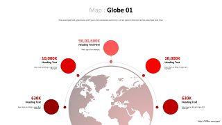 世界地图PPT图表-12