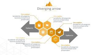 橙色总分关系PPT图表-22