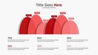 红色柱状图PPT图表-16