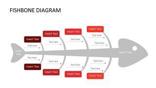 红色鱼骨图和甘特图PPT图表-2