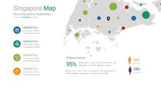彩色世界地图PPT图表-16