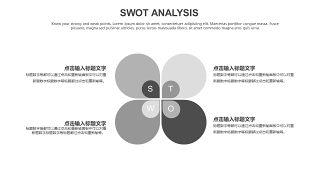 灰色SWOT分析图表-18