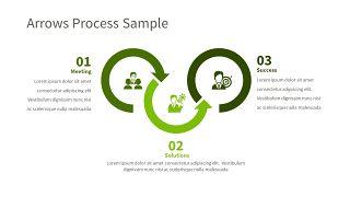 绿色三项关系PPT图表-28