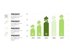 小清新绿色商务PPT图表-11