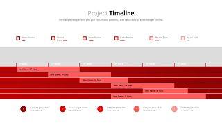 红色鱼骨图和甘特图PPT图表-31
