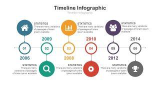 彩色总分关系时间轴PPT图表-18