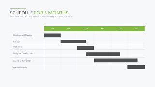 绿色甘特图PPT图表-24