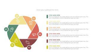 经典彩色饼状图PPT图表-31