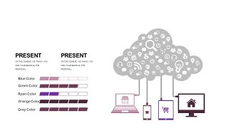 深紫色系商务PPT图表-21