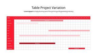红色鱼骨图和甘特图PPT图表-30
